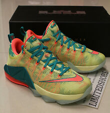 NIKE LEBRON 12 XII LOW PRM LEBRONOLD PALMER 776652-383 red all over id elite mvp