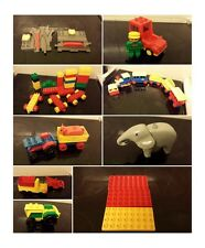 lego duplo boards elephant tractor fire engine cow push along train zoo junction