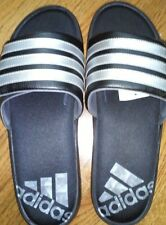 Men's Adidas Zeitfrei Slide Sandals Black / White  FREE SHIPPING