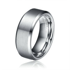 8mm Tungsten Carbide Ring For Men's Wedding Band Comfort Fit SZ 8 9 10 11 12