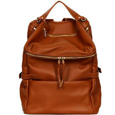 Genuine leather Backpack bookbag designer bag brown black PURSE Laptop Bag