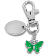 ladies butterfly keyring engraved / personalised with velvet gift pouch - PL75