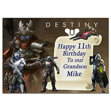 636 Destiny Game Personalised greeting large A5 card best special great custom