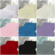 100% Cotton Soft Brushed Flannelette Fitted Sheet Single Double King,Super King