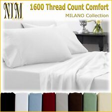 NEW Luxury Bedding 4pc BED SHEET SET Full/Queen/King, Many Colors, Deep Pocket