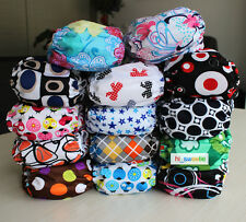 Popper One Size Baby Cloth Diaper Reusable Pocket Nappy Hip Snaps Wrap inserts