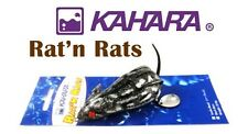 KAHARA RAT N RATS REALISTIC SOFT BODY TOPWATER BASS LURE SELECT VARIOUS COLORS