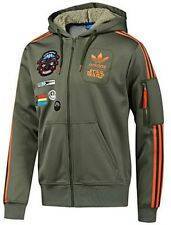 NWT STAR WARS GREEN REBEL MILITARY XWING HOODIE JACKET L XL