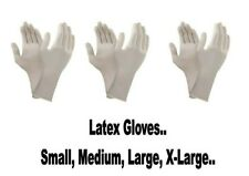 POWDERED LATEX GLOVES ~ SMALL ~ MEDIUM ~ LARGE ~ EXTRA LARGE ~  DISPOSABLE ~