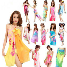 Beach Chiffon Wrap Pareo hawaiian Sarong Skirt Bikini Cover up Scarf 18 styles