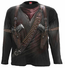 Spiral Direct HOLSTER WRAP Long Sleeve Top T-Shirt, Assassin, Outlaw, Rock,Creed