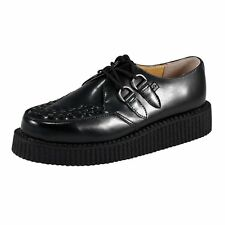 T.U.K. A6806 TUK Mens Shoes Creeper Lo Sole Creepers Black Real Leather Brothel