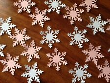 FROZEN white pink card XMAS LARGE party snowflakes confetti table decoration