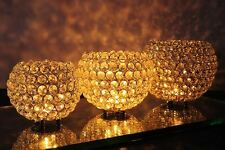 Glass Crystal Globe Wedding Centerpieces Tealight Votive Candle Holder Pick Size