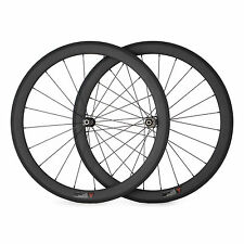 50mm Clincher Straight Pull Carbon Wheels Road Racing Bike Wheelset Basalt Brake