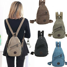 Men & Women Canvas Small Mini Travel Chest Backpack Rucksack Purse Schoolbag
