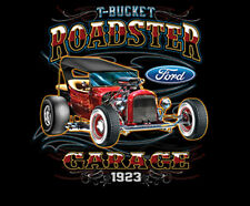 Ford T Bucket Roadster Garage 1923 American Classic Hot Rat Rod T-Shirt Tee