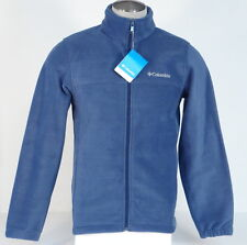 Columbia Blue Granite Mountain Zip Front Fleece Jacket Mens NWT