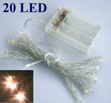 1 X AA Battery Power Mini 20/40 LEDs Warm/White Christmas String Fairy Lights
