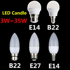 Energy Saving E27 E14 B22 LED Globe Candle Light  Bulb Lamp Spot Lighting 3W=35W