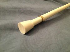 Round Spring Curtain Tension Rod!! Multiple Sizes!! White&Brass!!  Free Shipping