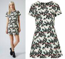 TOPSHOP PETITE Tropical Leaf Print Overlay Dress RRP £65 Size 4 to 16