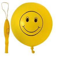 Punch Balloons Yellow Smiley Face With Elastic Birthday Party Bag Fillers Pinata