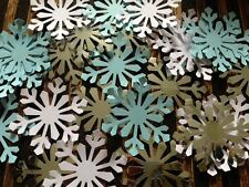GIANT snowflakes confetti table decorations crafts card SHINY SILVER Blue White