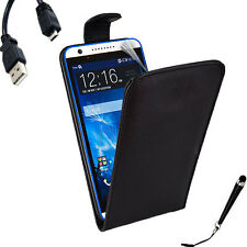 Leather Flip Case Cover for HTC Desire 820 + SP & Stylus & Cable