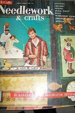 McCALL'S VINTAGE NEEDLEWORK & CRAFTS MAGAZINE HOW TO KNIT CROCHET SEW