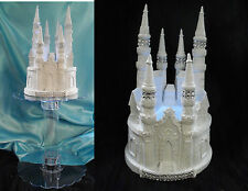 "LARGE 9 1/2"" TALL Lighted  Wedding Cake Topper Quinceanera Castle Fairytale"
