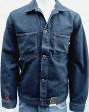 LEVI'S Mens Denim Standard Fit Casual Jacket Hip Length Dark Wash Sizes: S & L