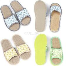Cozy Home Beach Slippers Linen Rattan Mat Bottom Cool Summer Flax Flats Slippers