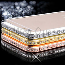 For iPhone 6 Crystal Rhinestone Diamond Bling Metal Case Cover Bumper