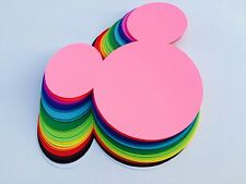 """10 pc Mickey Mouse Head Die-Cuts: 6"""""""