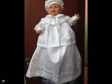 BABY BOY CHRISTENING & BAPTISM OUTFIT  GOWN W CANDLE SET (ROPONES PARA BAUTIZO)
