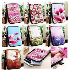 "For 7""-8"" Tablets/eReaders Cartoons Flowers Strap Neoprene Bag Pouch Sleeve Case"