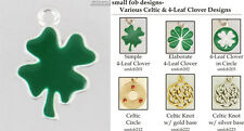Celtic & 4-Leaf Clover fobs, various designs & watch chain options