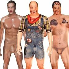 REALISTIC CENSORED NAKED HILLBILLY MORPHSUIT FANCY DRESS COMEDY COSTUME STAG DO