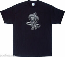 Kruse Borracho Surf T-Shirt Mexican Skeleton Rockabilly