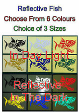 1x Reflective Fish Glossy Stickers For Car or Home Decal