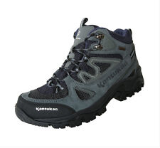 Kantukan Men's Kevlar Leather Climbing Boots K114 Mountain Outdoor Trekking Navy