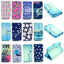 For Apple Phone Retro PU Leather Case Magnetic Wallet Card Flip Stand Cute Cover