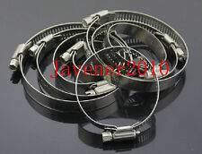 304 Stainless Steel 52-76mm Hose Clamp American Type Hollow Durable 1/5/10/50PCS