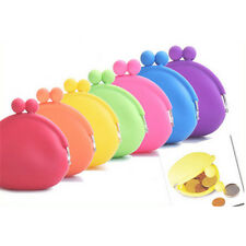 Silicone Round Coin Purse Wallet Candy ID Card Rubber Key Phone Frog Design Bag