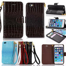 Magnetic Flip Crocodile Leather Wallet Case Cover For iPhone 5S 5C 6 4.7/ 6 Plus