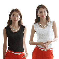 Womens Lace Tank Tops Floral Sleeveless T-Shirt Blouse Camisole Vest