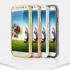 Luxury Crystal Rhinestone Diamond Bling Metal Cover Bumper For Galaxy S5 S4 SIII