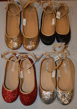 Girl's Old Navy Sparkle Glitter Ballet Flats Shoes Red, Silver, Gold, Black