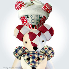 """Teddy Bear Fabric Sewing PATTERN & Turorial Style Instructions 9"""" 13"""" Or 14"""""""